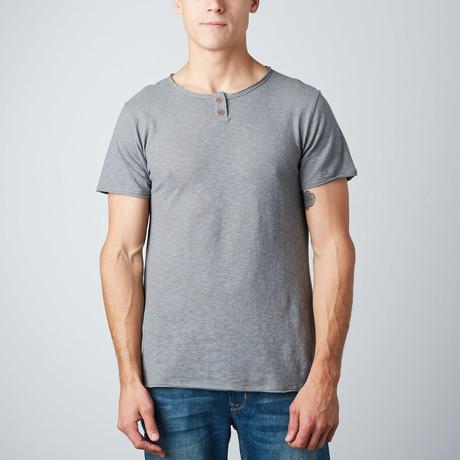 Linen-Blend Henley // Grey