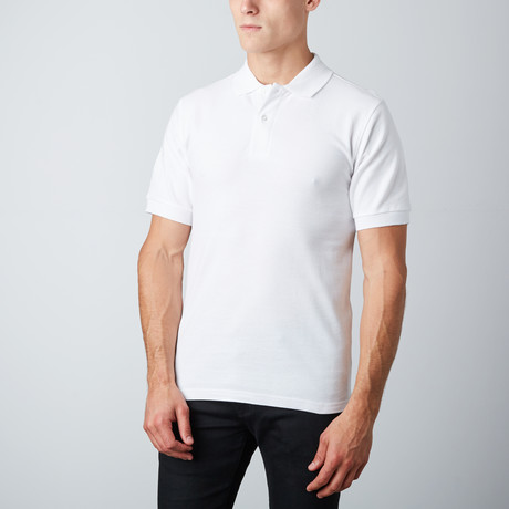 Stretch Polo // White
