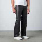 Relaxed Fit Leather Moto Pants // Black (30WX32L)
