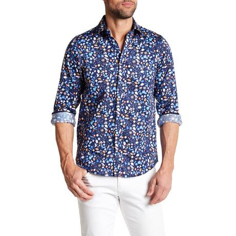 Jock Long-Sleeve Button-Up Shirt // Navy