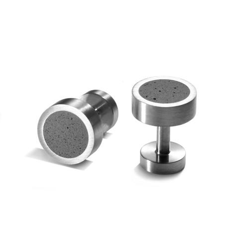 Concrete Stud Cufflinks