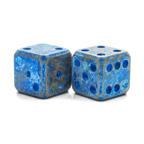 Cubooid Dice Set // Brass