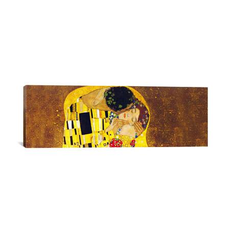 """The Kiss // Panorama // Gustav Klimt (60""""W x 20""""H x 0.75""""D)"""
