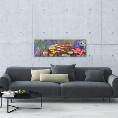 """Water Lilies // Claude Monet (36""""W x 12""""H x 0.75""""D)"""