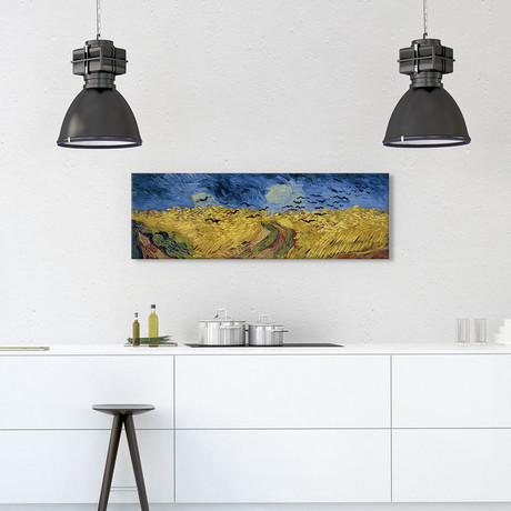 "Wheatfield With Crows // Vincent Van Gogh // 1890 // Panoramic (36""W x 12""H x 0.75""D)"