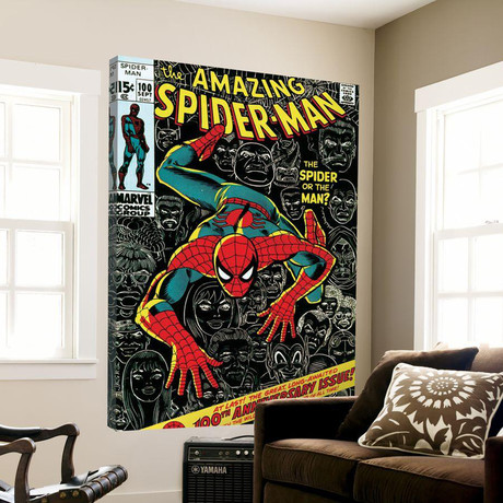 The Amazing Spider-Man Comic Book Cover No.100 // 100th Anniversary Issue