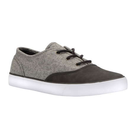Neptune Low-Top Sneaker // Grey + Charcoal + White