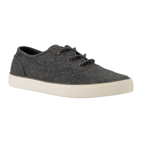 Neptune Low-Top Sneaker // Charcoal + White