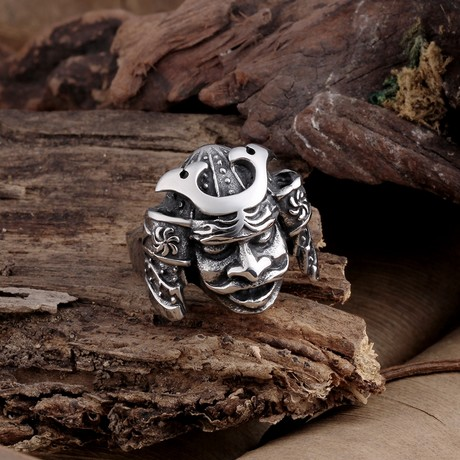 Stainless Steel Mechanic Chief Ring (8)