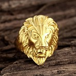 Goldtone Lion Ring (12)