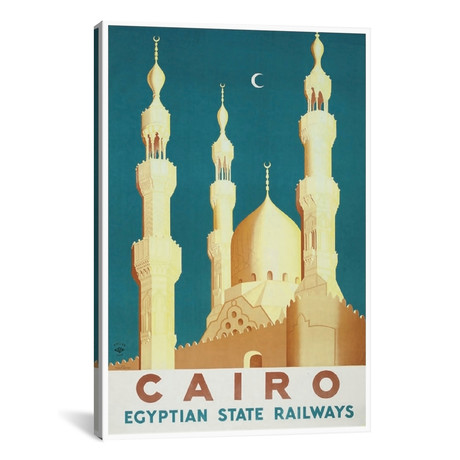 "Cairo - Egyptian State Railways // Unknown Artist (12""W x 18""H x 0.75""D)"