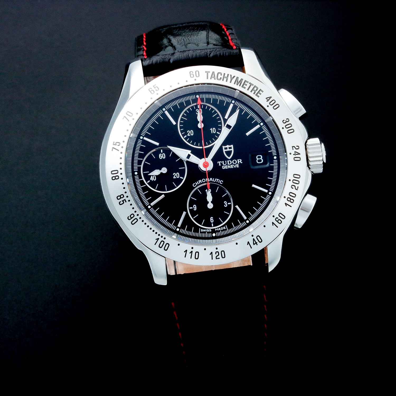 Tudor geneve date chronograph automatic c7928 pre owned esteemed watches touch of modern for Tudor geneve watches