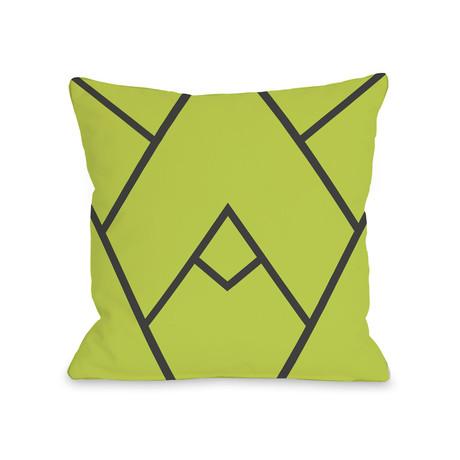 Framed Mountain // Green // Pillow