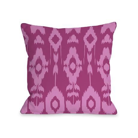 Forever Ikat // Raspberry Rose // Pillow