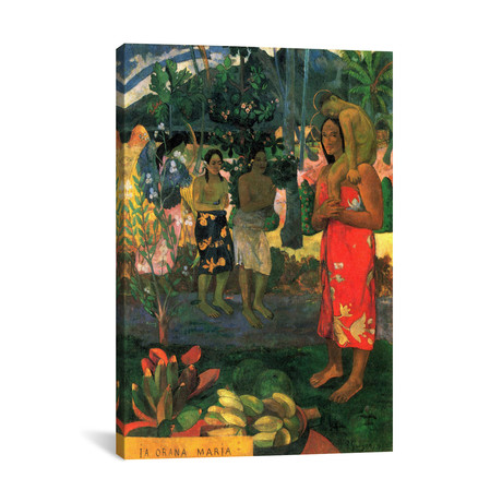 "Hail Mary // Paul Gauguin // 1891 (18""W x 26""H x 0.75""D)"