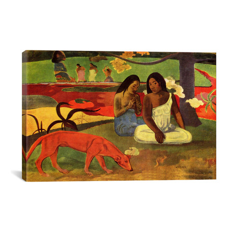 "Arearea // Paul Gauguin // 1892 (26""W x 18""H x 0.75""D)"