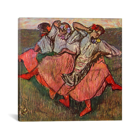 "Russian Dancers // Edgar Degas // 1899 (18""W x 18""H x 0.75""D)"