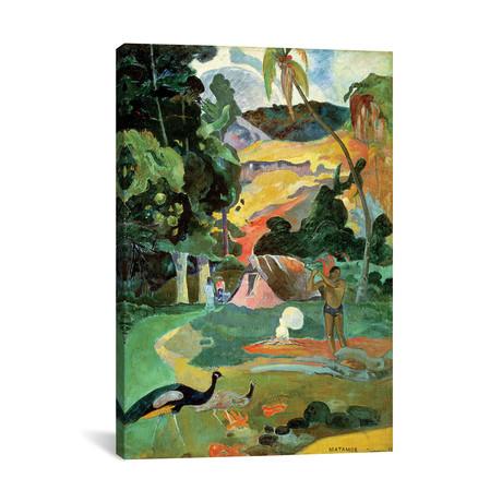 Matamoe Landscape with Peacocks // Paul Gauguin // 1892