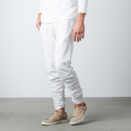 Santos Rouched Leg Jogger Sweatpants // Athletic Heather (S)