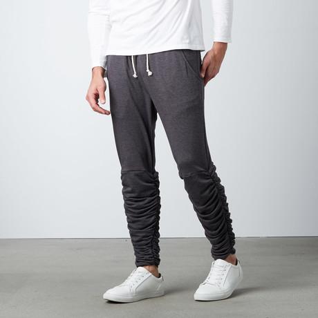 Santos Rouched Leg Jogger Sweatpants // Onyx (S)