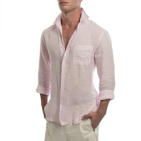 Island Linen Shirt // Pink Sand (S)