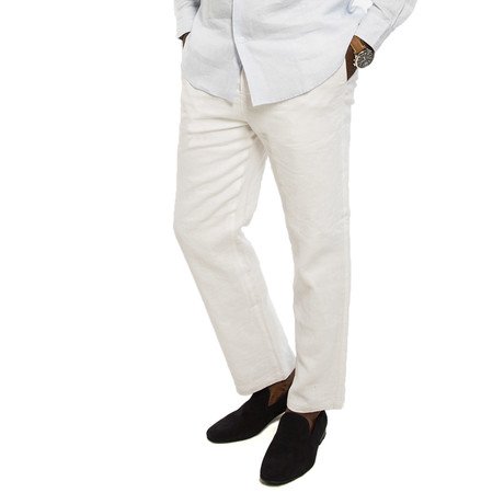 Bry-Lined Linen Pant // Coconut