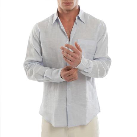 Island Linen Shirt // Sky (S)