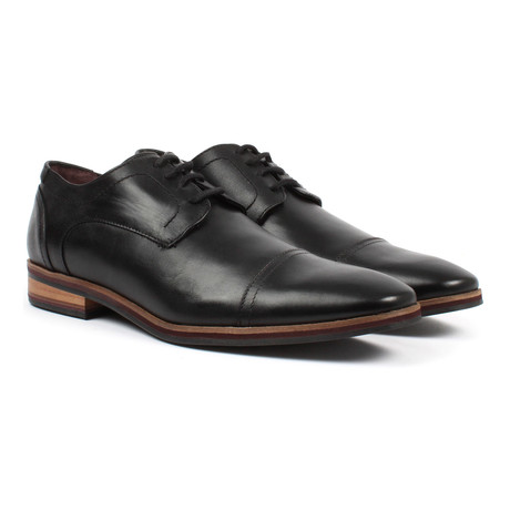 Cap-Toe Derby // Black (US: 6)
