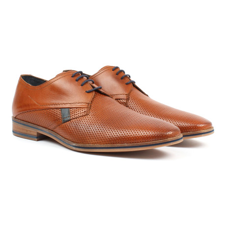 Perforated Derby Shoe // Tan (US: 6)