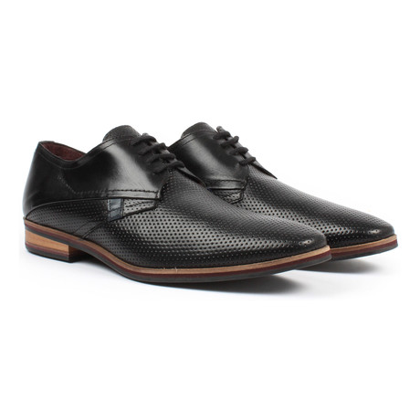 Perforated Derby Shoe // Black