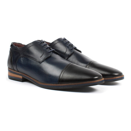 Cap-Toe Derby // Navy + Black (US: 6)