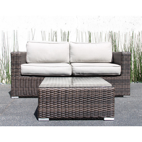 Marbella Loveseat + Coffee Table Set