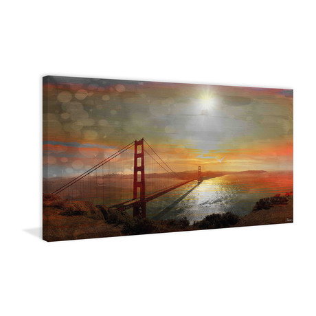 Bridge At Sunset // Canvas