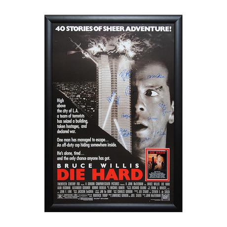 Signed Movie Poster // Die Hard