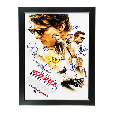 Signed Movie Poster // Mission: Impossible, Rogue Nation I