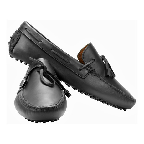 Driving Lace-Up Loafer // Black (US: 7)