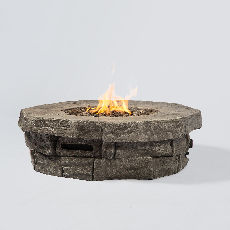Tivoli Cast Stone Propane Fire Pit Table