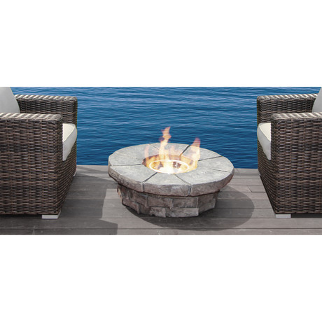 Tivoli Cast Stone Propane Fire Pit Table