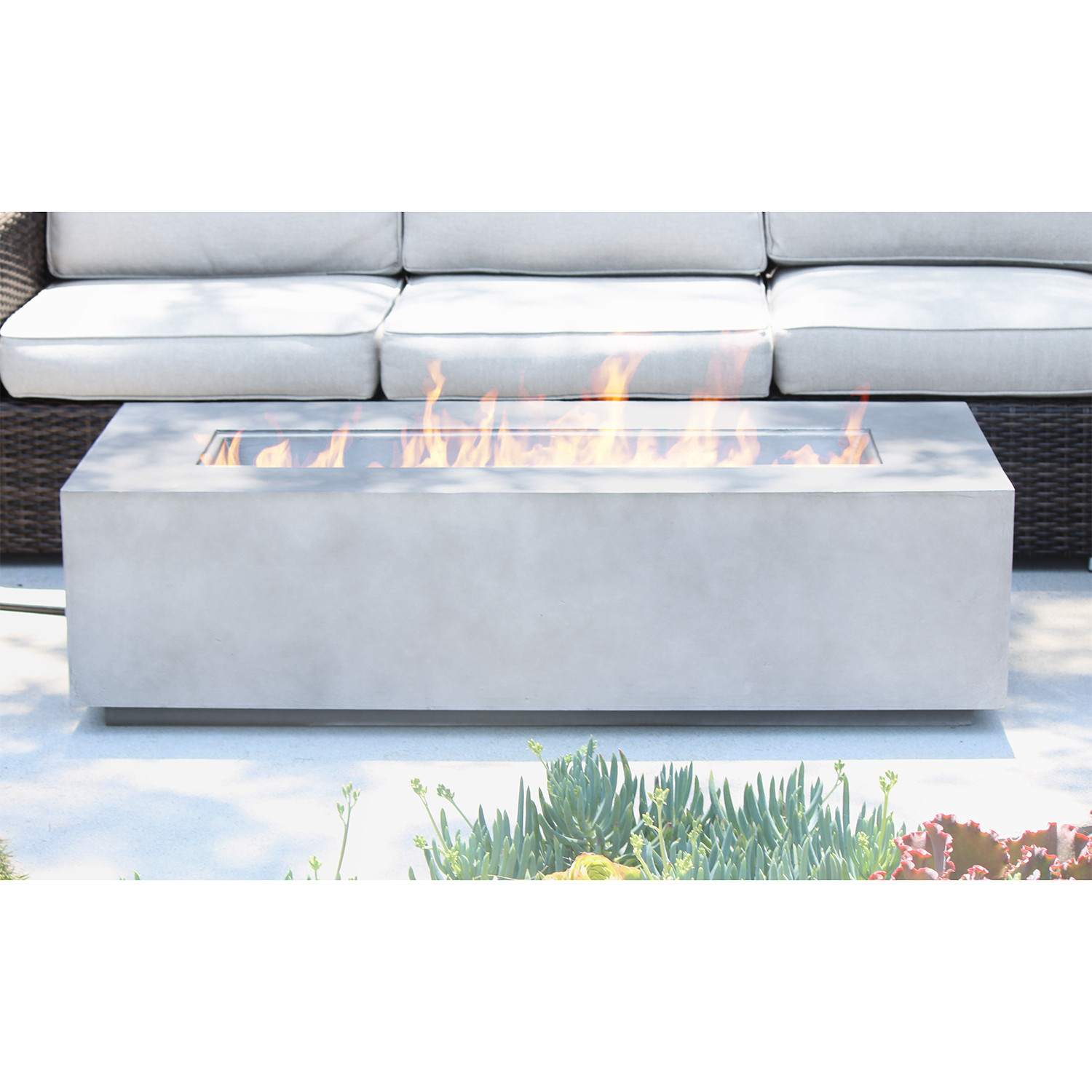 Coronado cast concrete fire pit table century modern for 12 inch high table