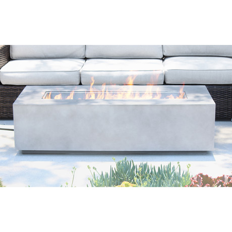 Coronado Cast Concrete Fire Pit Table