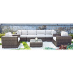 Marbella Sectional Club // 7 Piece Set
