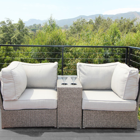 Kingston Cup Table Love Seat