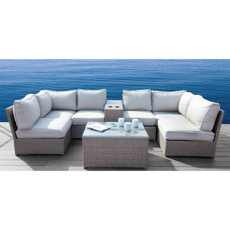 Kingston Cup Table Sectional // 8 Piece Set