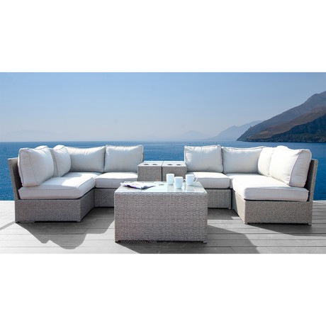 Kingston Cup Table Sectional // 9 Piece Set