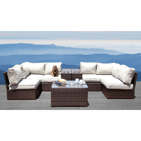 Manchester Cup Table Sectional // 9 Piece Set