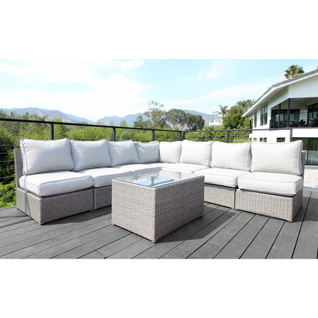 Kingston Sectional // 8 Piece Set