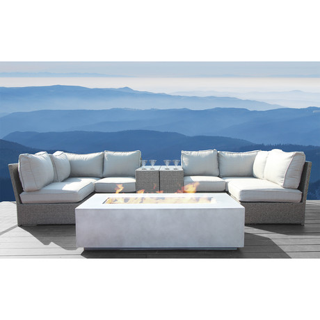Kingston Cup Table Fire Pit // 9 Piece Set
