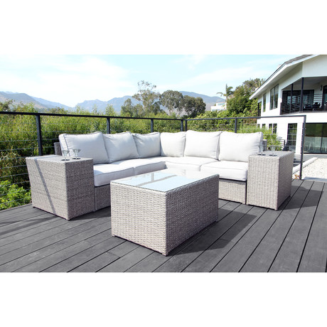 Kingston Sectional + Cup Holders // 8 Piece Set