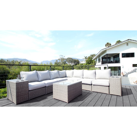 Kingston Sectional + Cup Holders // 10 Piece Set