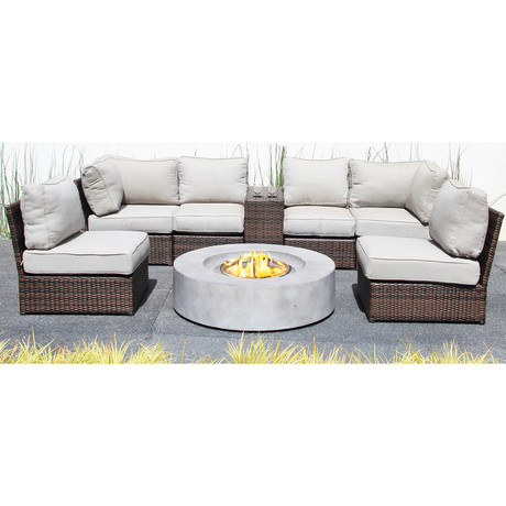 Manchester Cup Table Fire Pit // 8 Piece Set